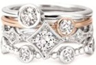 Forevermark Tribute collection ring stack