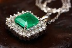 RJC diamond and emerald necklace 150