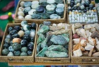 Gemstones and jade at Myanmar market