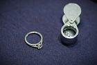 Diamond ring in De Beers Jewellers store in London
