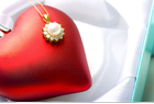 Valentine's Day heart and jewelry