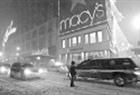 Macys in the snow